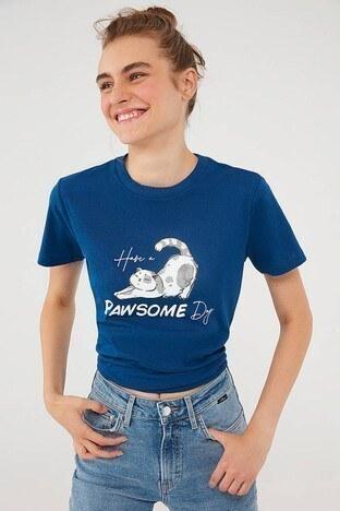 Mavi - Mavi Bayan T Shirt 1610161-70721 LACİVERT