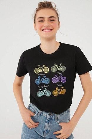 Mavi - Mavi Bayan T Shirt 1610162-900 SİYAH