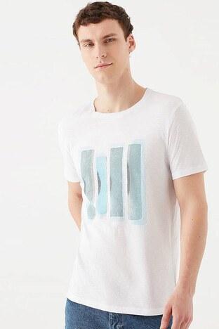Mavi - Mavi Erkek T Shirt 066083-620 BEYAZ