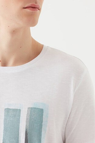 Mavi Erkek T Shirt 066083-620 BEYAZ