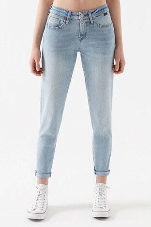 Mavi - Mavi Boyfriend Dar Paça Ada Jeans Bayan Kot Pantolon 1020522253 AÇIK MAVİ