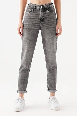 Mavi - Mavi Cındy Yüksek Bel Pamuklu Mom Jeans Bayan Kot Pantolon 100277-31851 GRİ
