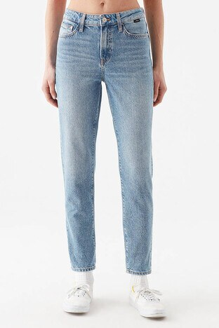 Mavi Cindy Yüksek Bel Dar Paça Mom Jeans Bayan Kot Pantolon 100277-34539 MAVİ