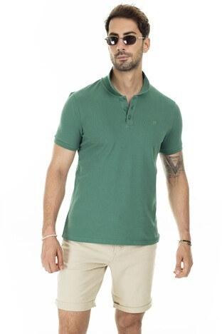 Mavi Düğmeli T Shirt Erkek Polo 064946-28751 YEŞİL
