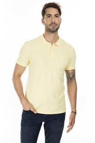 Mavi Düğmeli T Shirt Erkek Polo 064946-31383 SARI
