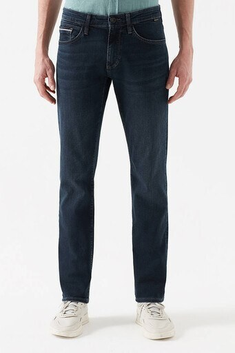 Mavi Düz Kesim Düz Paça Pamuklu Martin Jeans Erkek Kot Pantolon 0037828211 KOYU LACIVERT