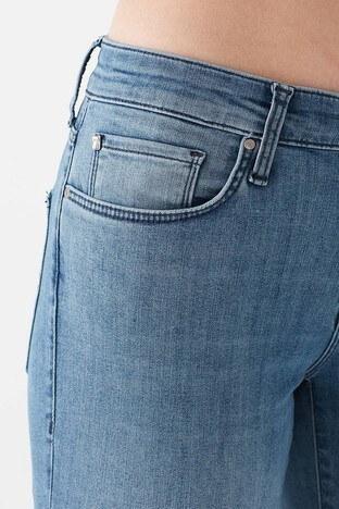 Mavi Düz Kesim Düz Paça Pamuklu Mona Jeans Bayan Kot Pantolon 1049733588 MAVİ