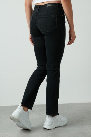 Mavi Düz Paça Pamuklu Mona Jeans Bayan Kot Pantolon 1049733301 ANTRASİT