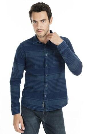 Mavi Erkek Gömlek 021302-29815 İNDİGO