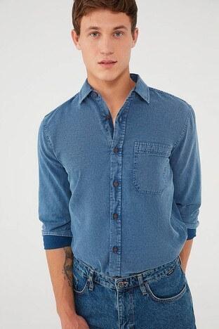 Mavi - Mavi Erkek Gömlek 021895-18790 KOYU MAVİ