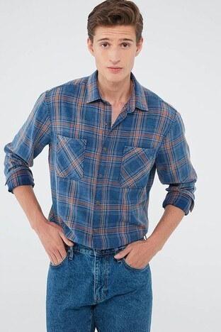 Mavi - Mavi Erkek Gömlek 021943-18790 LACİVERT-KAHVE