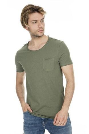Mavi - Mavi Erkek T Shirt 062772-28524 KOYU HAKİ
