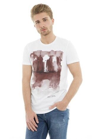 Mavi - Mavi Erkek T Shirt 065309-620 BEYAZ