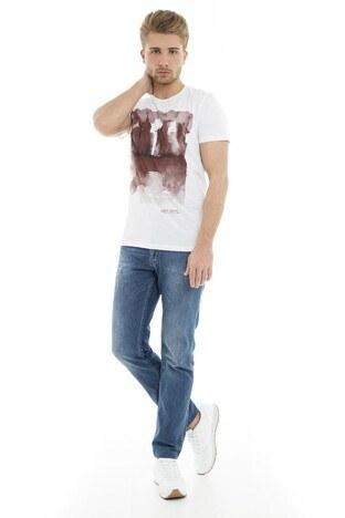 Mavi Erkek T Shirt 065309-620 BEYAZ