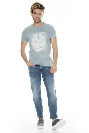 Mavi Erkek T Shirt 065484-28809 GRİ