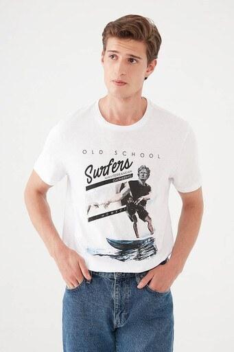 Mavi Erkek T Shirt 066722-620 BEYAZ