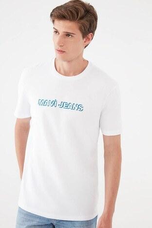 Mavi - Mavi Erkek T Shirt 067142-620 BEYAZ