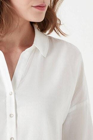 Mavi Gömlek Yaka Bayan Bluz 122414-30701 BEYAZ