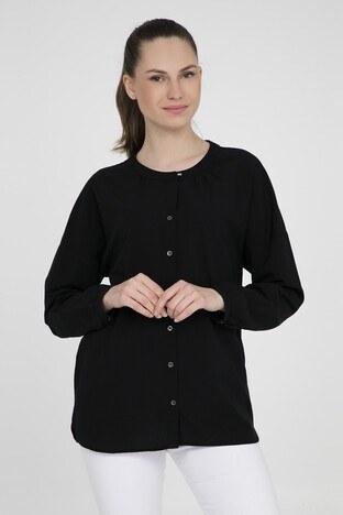 MAVİ Kadın Gömlek 122127-28303 SİYAH