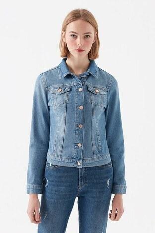 Mavi Bayan Kot Ceket 1113630865 MAVİ
