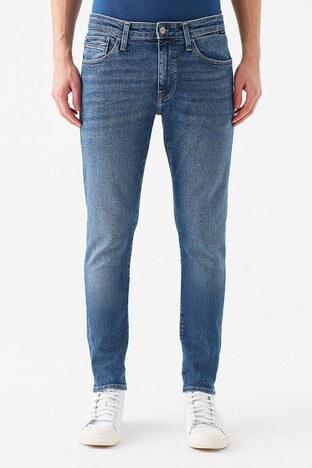 Mavi - Mavi Skinny Dar Paça Pamuklu Leo Jeans Erkek Kot Pantolon 0076233453 MAVİ