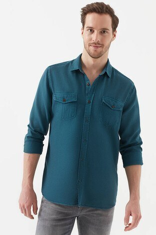 Mavi Lux Touch Erkek Gömlek 021422-30645 PETROL