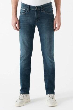 Mavi - Mavi Düz Kesim Dar Paça Pamuklu Marcus Jeans Erkek Kot Pantolon 0035128946 KOYU LACIVERT