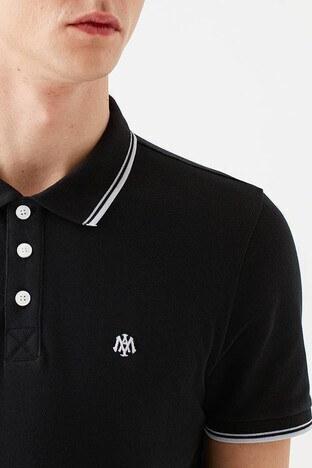 Mavi Pamuklu Dar Kesim Düğmeli T Shirt Erkek Polo 064164-900 SİYAH