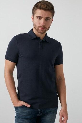 Mavi Pamuklu Düğmeli T Shirt Erkek Polo 066146-30651 LACİVERT