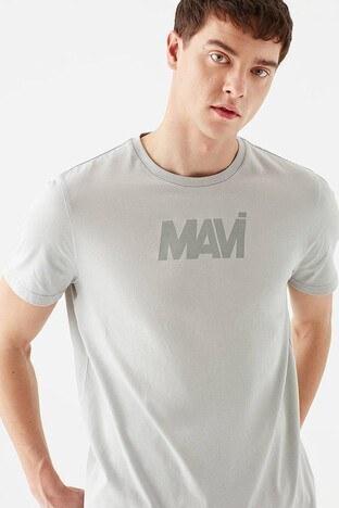 Mavi Rahat Kesim Baskılı Bisiklet Yaka % 100 Pamuk Erkek T Shirt 066846-34638 GRİ
