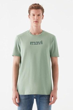 Mavi Rahat Kesim Baskılı Bisiklet Yaka % 100 Pamuk Erkek T Shirt 066848-33501 YEŞİL