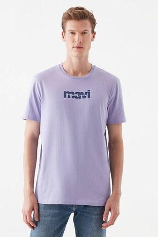 Mavi Rahat Kesim Baskılı Bisiklet Yaka % 100 Pamuk Erkek T Shirt 066848-34024 EFLATUN