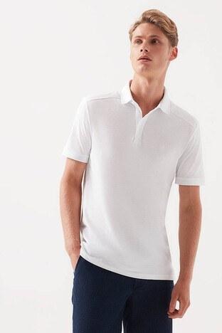 Mavi Rahat Kesim T Shirt Erkek Polo 065888-620 BEYAZ
