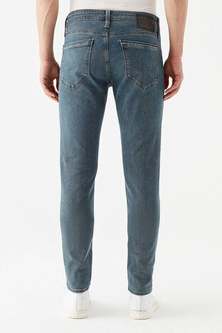 Mavi Skinny Dar Paça Pamuklu James Jeans Erkek Kot Pantolon 00424-28193 MAVİ