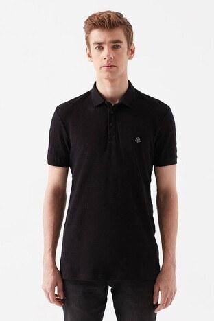 Mavi Slim Fit % 100 Pamuk Düğmeli T Shirt Erkek Polo 064121-900 SİYAH