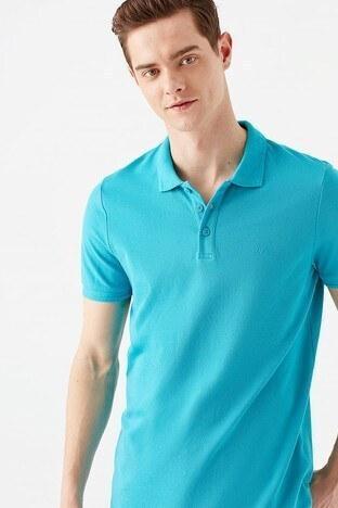 Mavi - Mavi Slim Fit % 100 Pamuk Düğmeli T Shirt Erkek Polo 064946-31472 KOYU PETROL