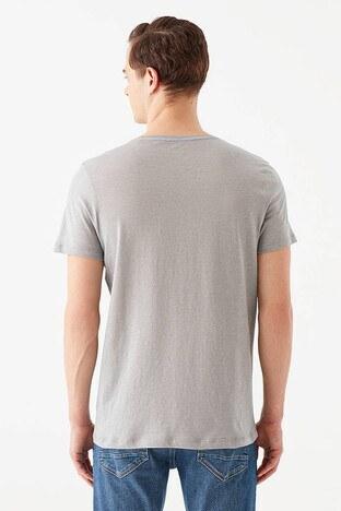 Mavi Slim Fit Bisiklet Yaka % 100 Pamuk Erkek T Shirt 064681-30716 GRİ
