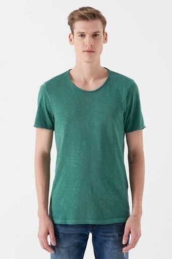 Mavi Slim Fit Bisiklet Yaka Erkek T Shirt 063504-30836 YEŞİL