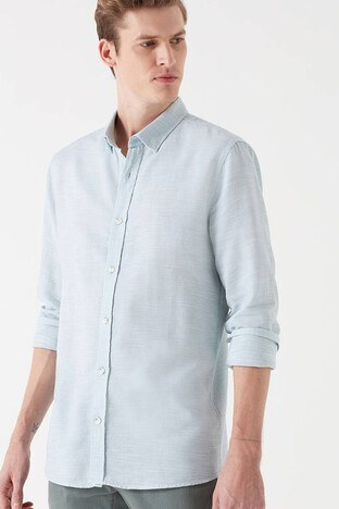 Mavi Slim Fit Erkek Gömlek 020579-29827 YEŞİL