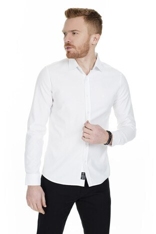 Mavi - Mavi Slim Fit Erkek Gömlek 020709-28613 BEYAZ