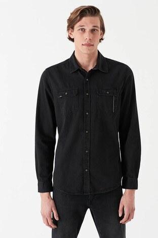 Mavi - Mavi Slim Fit Erkek Kot Gömlek 02957-27005 SİYAH