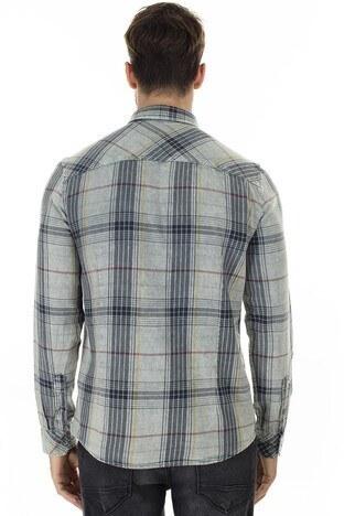 Mavi Slim Fit Kareli Erkek Gömlek 021636-31935 GRİ
