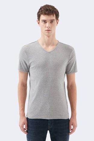 Mavi Erkek T Shirt 063748-30774 GRİ MELANJ
