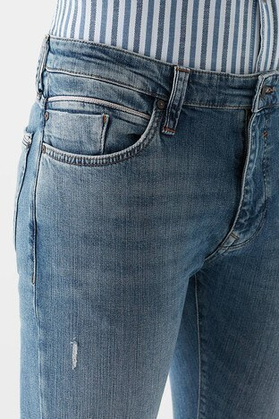 Mavi Süper Skinny Dar Paça Pamuklu Leo Jeans Erkek Kot Pantolon 0076230621 MAVİ
