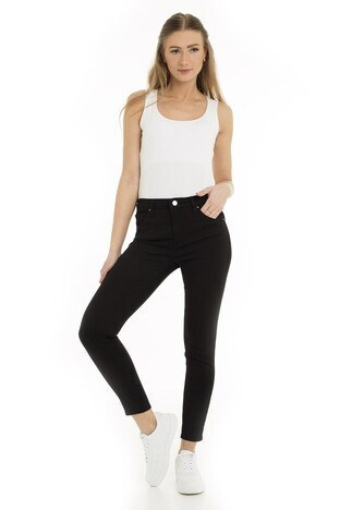 Mavi - Mavi Yüksek Bel Süper Skinny Kısa Paça Tess Jeans Bayan Kot Pantolon 100328-26515 SİYAH