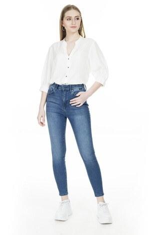 Mavi - Mavi Yüksek Bel Skinny Dar Paça A.C.A.I.P Jeans Bayan Kot Pantolon 101065-31056 KOYU MAVİ