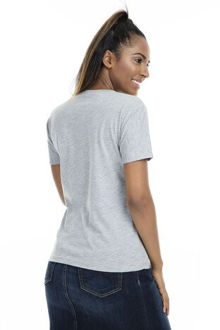 Mint Bayan T Shirt 4245046 GRİ