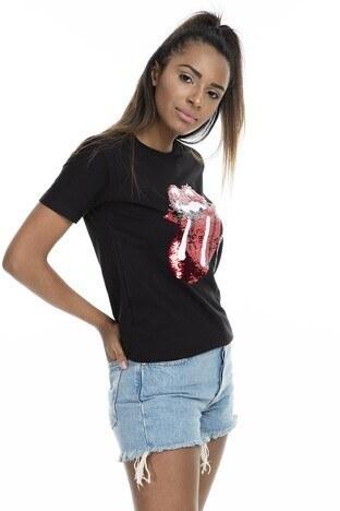 MİNT - Mint Kadın T Shirt 4245046 SİYAH