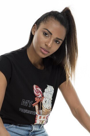 Mint Kadın T Shirt 4245084 SİYAH