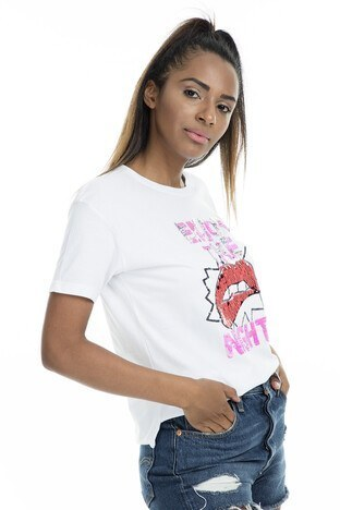 Mint Bayan T Shirt 4245197 BEYAZ